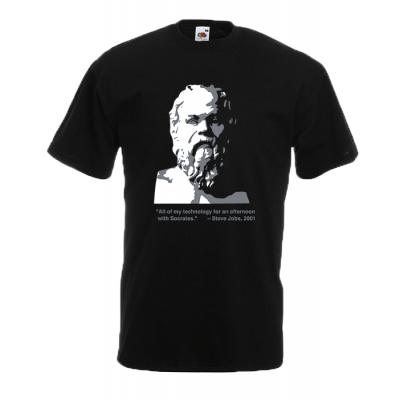 Plato vs Jobs T-Shirt with print