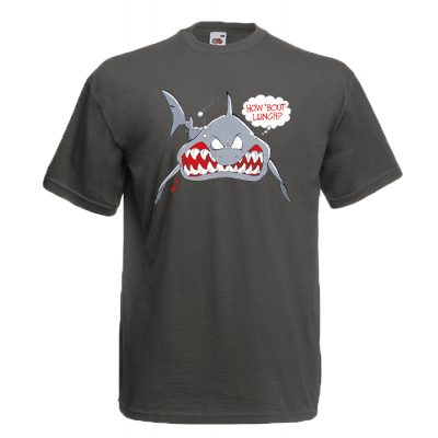 Shark How About Lunch T-Shirt with print