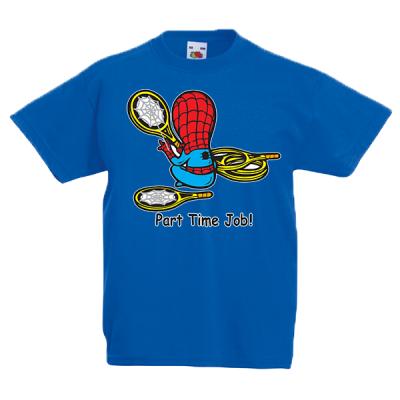 Spiderman Part Time Job Kids T-Shirt with print