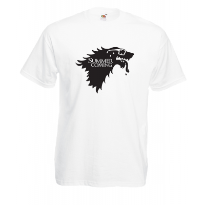 Summer Is Coming Wolf T-Shirt with print