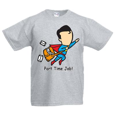 Superman Part Time Job Kids T-Shirt with print