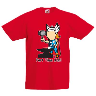 Thor Part Time Job Kids T-Shirt with print
