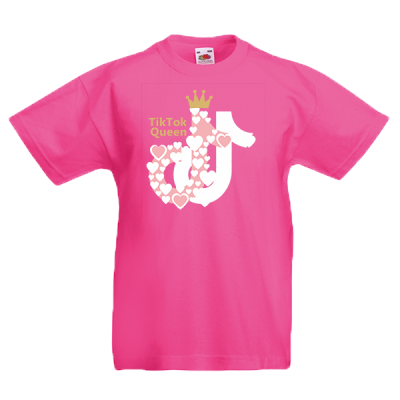 Tik Tok Queen 3 Kids T-Shirt with print
