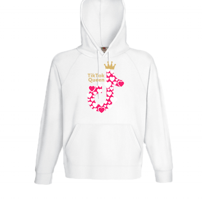 Tik Tok Queen Hooded Sweatshirt with print